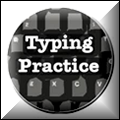 typing practice icon with link to typing resources
